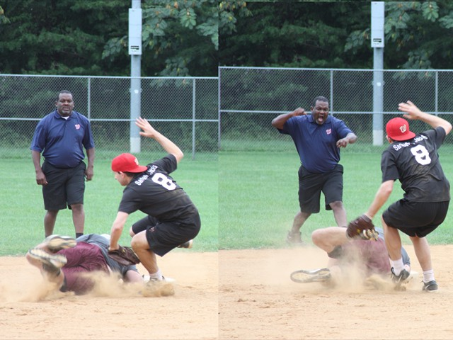 Another close play the Ump calls out.