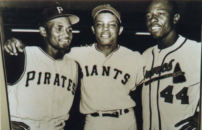 Clemente, Mays and Aaron