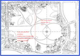Softball Map of fields around the Washington Monument